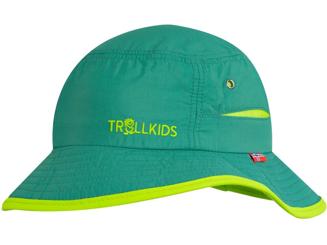 TROLLKIDS Trollfjord Hat Kids dark green/light green